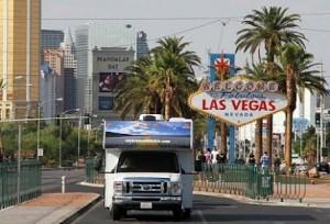 Wohnmobil von Cruise America in Las Vegas