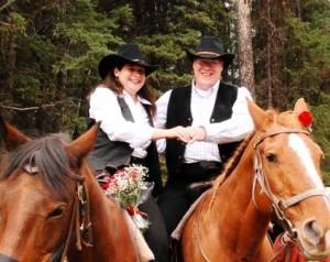 Heiraten in Kanada auf der Beaver Guest Ranch für Reiter