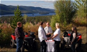 Heiraten auf der Beaver Guest Ranch in Kanada
